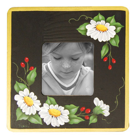 Daisy Painted Photo Frame