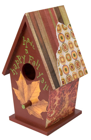 fall bird house