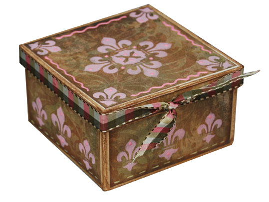 Box with Rose Flourish
