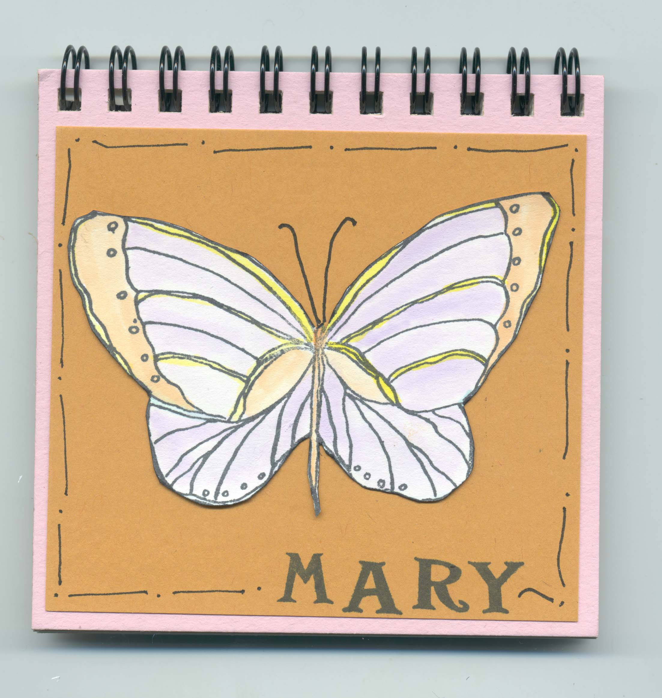 Butterfly Name Journal