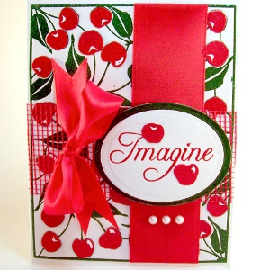 Embossed Cherry Card