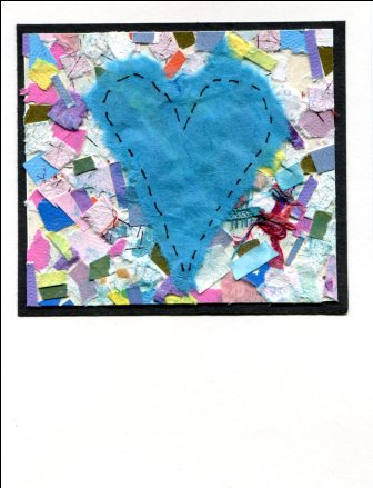 Serendipity Blue Heart Card