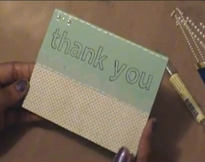 Faux Stitched Thank You Card