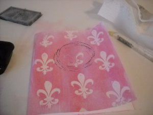 French Quarter Note Card Stamped Circle