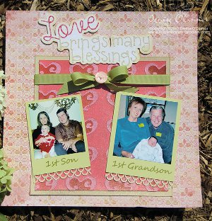Lovely Blessings Scrapbook Page
