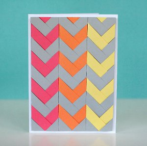 Neon Chevron Cards