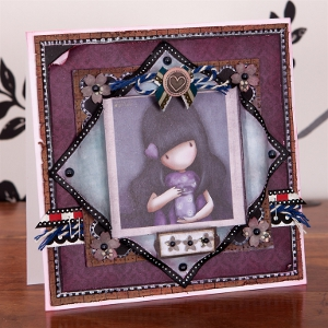 pretty purple princess card