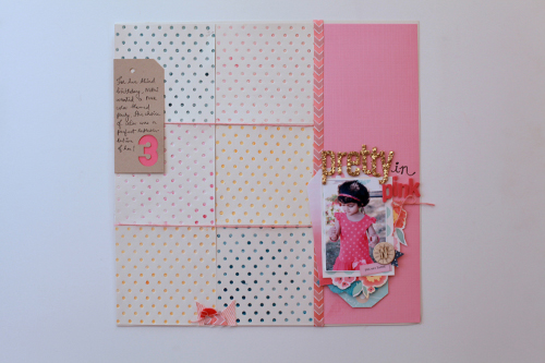 Pretty in Pink Layout