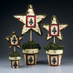 Paper Star Topiaries