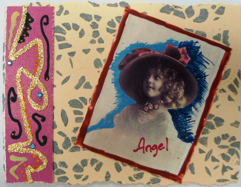 Vintage Angel Crystal Card