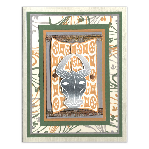 African Theme Stamp Card