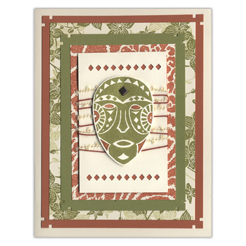 Africa Theme Stamp Card