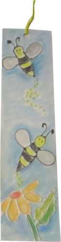 Bees Glue Embossed Bookmark