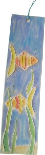 Fish Glue Embossed Bookmark
