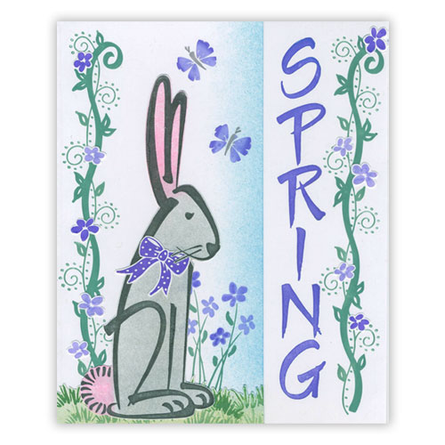 Easter Bunny Spring Card