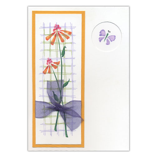 Butterfly Stamped Card