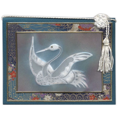 Japanese Crane Stamp Card