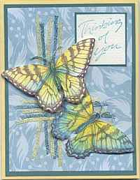 Embellished Butterfly Greeting Card