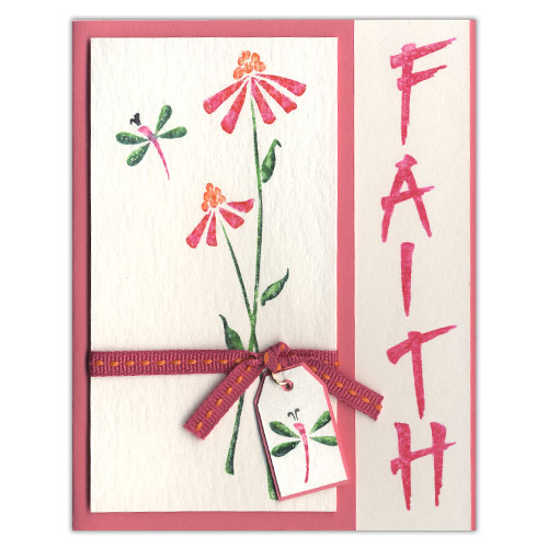 Pink Flower Faith Card