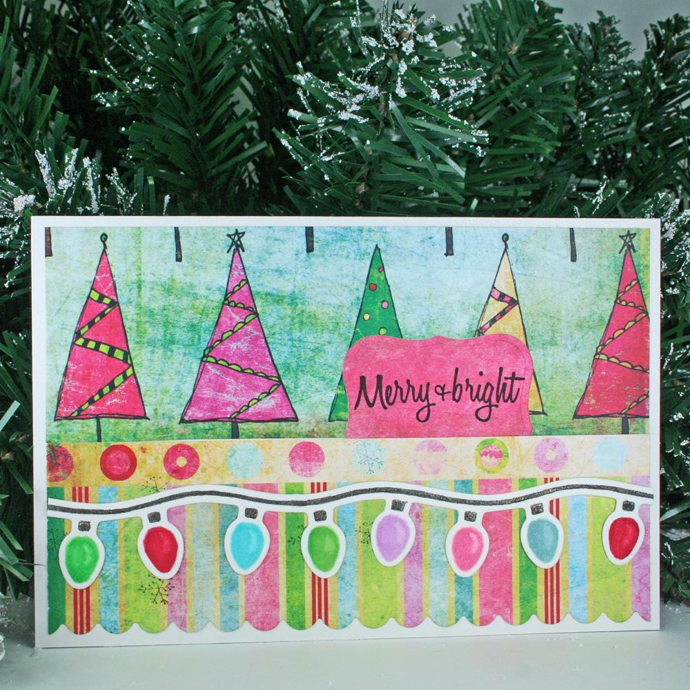 Merry And Bright Lights Holiday Greeting Card Favecrafts