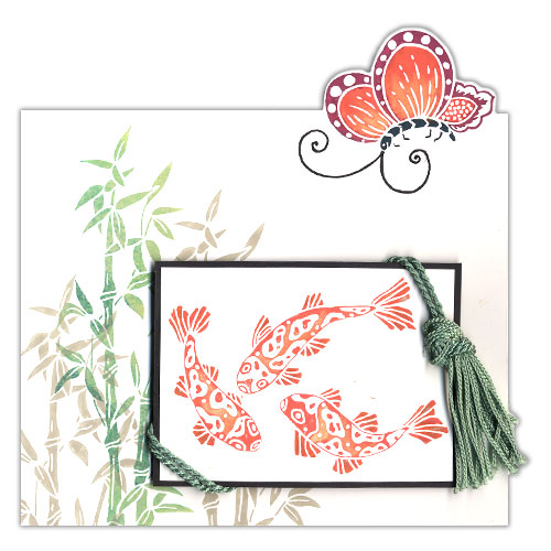 Floating Butterfly Stamp Card