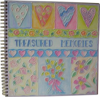 Glue Embossed Treasure Album