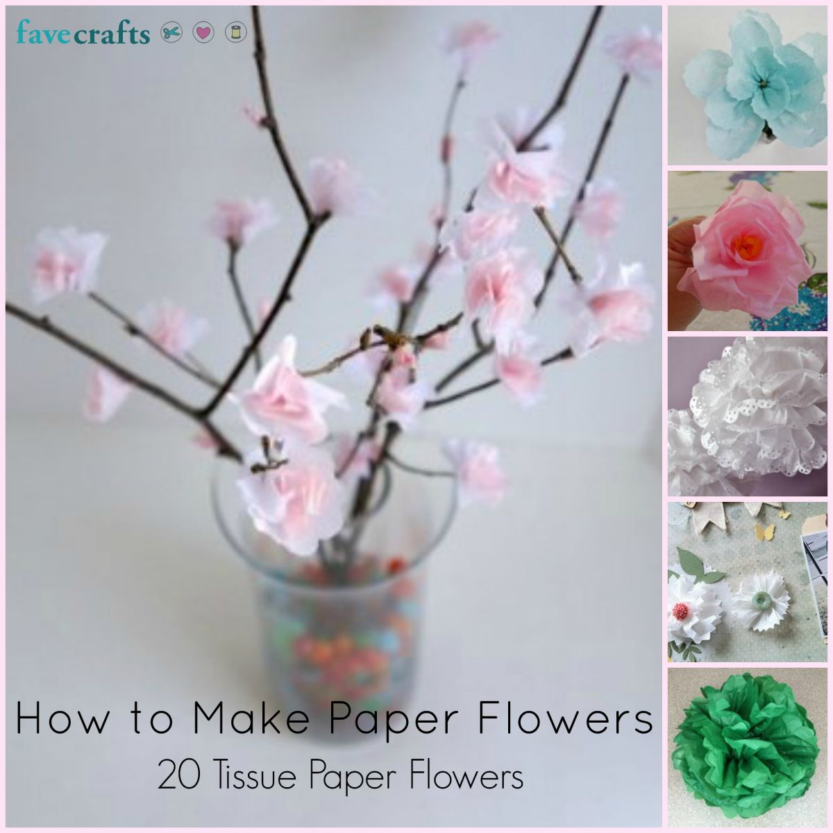 How to Make Paper Flowers 20 Tissue Paper Flowers