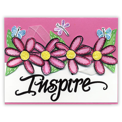 Pink Inspiration Stamped Card