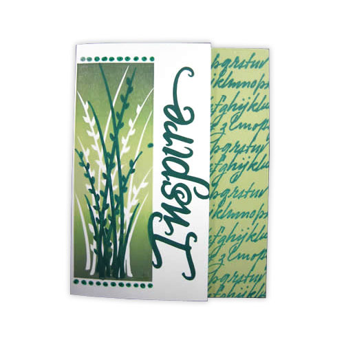 Inspire Green Stamp Card