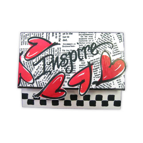 Inspire Heart Stamp Card