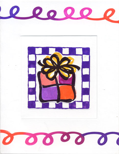 Latch and Window Handmade Card