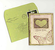 """Love You"" Note Card and Envelope"