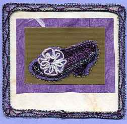 Purple Victorian Shoe Card