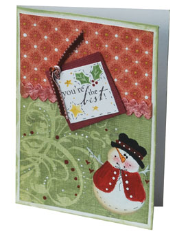 Snowman Holiday Greeting Card