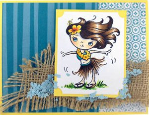 Sweet Summer Hula Dancer Card