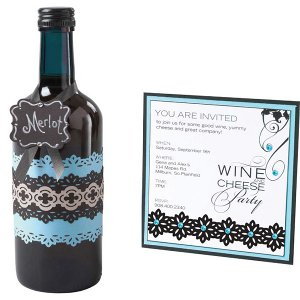 Wine Tasting Party Invite and Bottle Decor