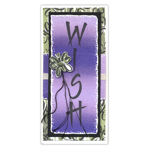 Wish Butterfly Stamp Card