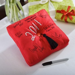 Graduation Guest Book Pillow