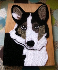 Dog Yarn Painting