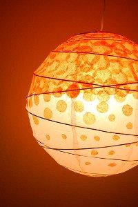 Polka Dot Tissue Lantern Whats a Pendant Light?