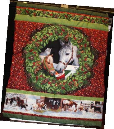 Christmas Stables Card Holder