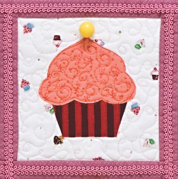 Cupcakes Quilt Close