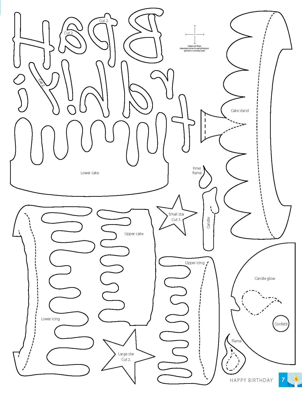 Nice Birthday Cake Card Template Crest   Documentation Template .