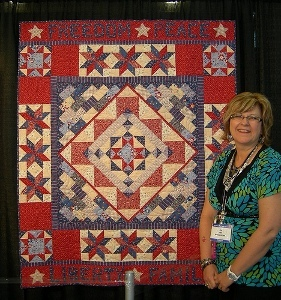 Twirling Four-Patch Wall Quilt & Pillow