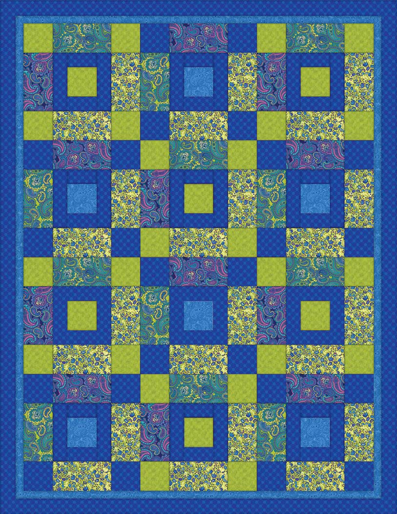 Intermediate Quilting Patterns : Venetian Quilt Pattern from Springs Creative FaveCrafts.com