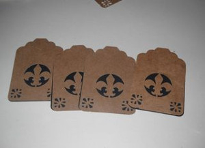 Recycled Grocery Bag Gift Tags