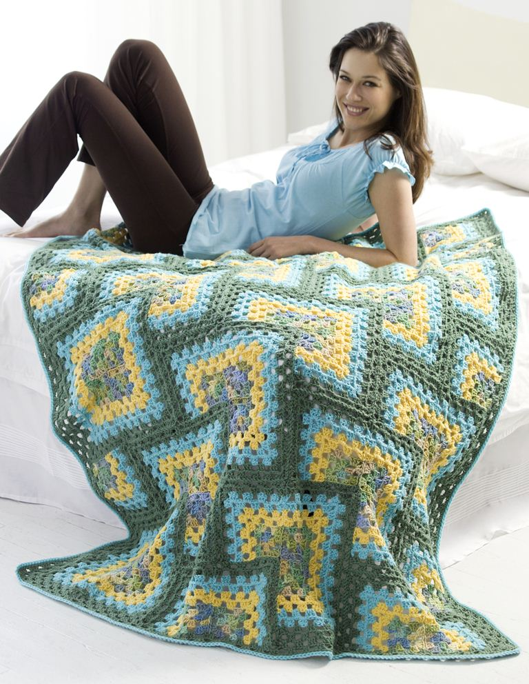 Free Crochet Patterns Of Afghan Squares : AFGHAN CROCHET FREE GRANNY PATTERN SQUARE Patterns