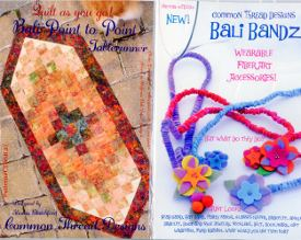 Bali Bandz and Bali Point to Point Tablerunner Pattern Quilts