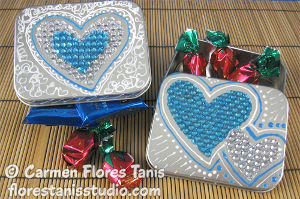 Rhinestone DIY Favor Boxes