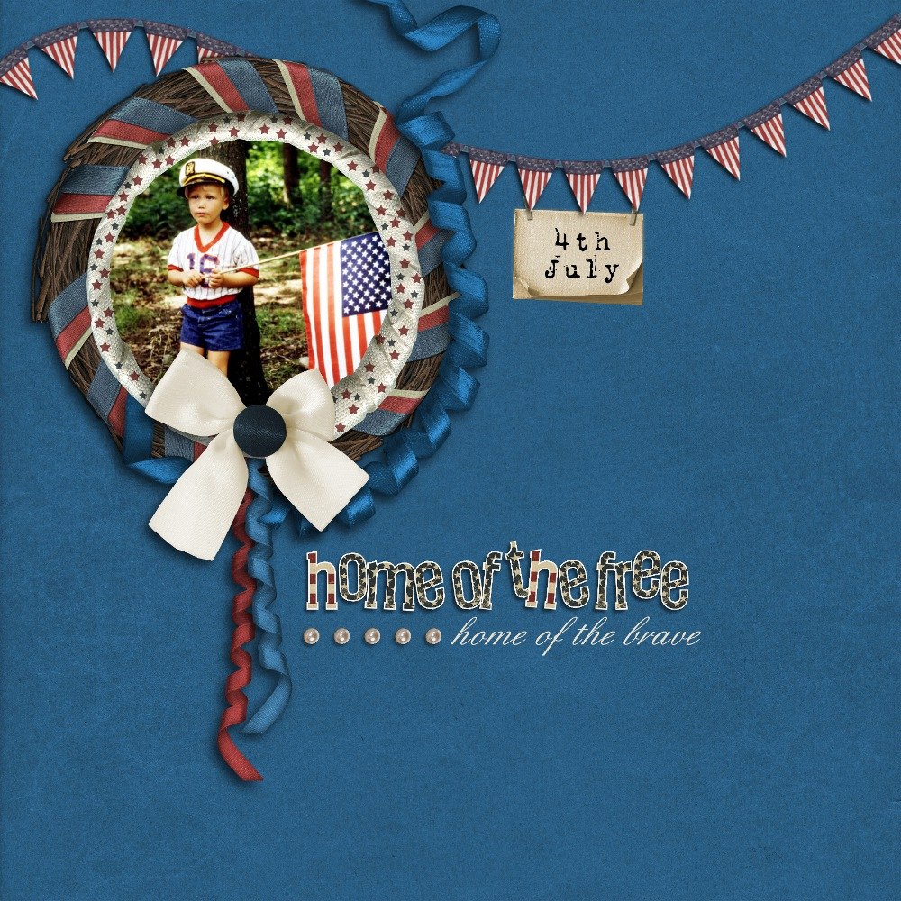 4th of July Scrapbook Layout